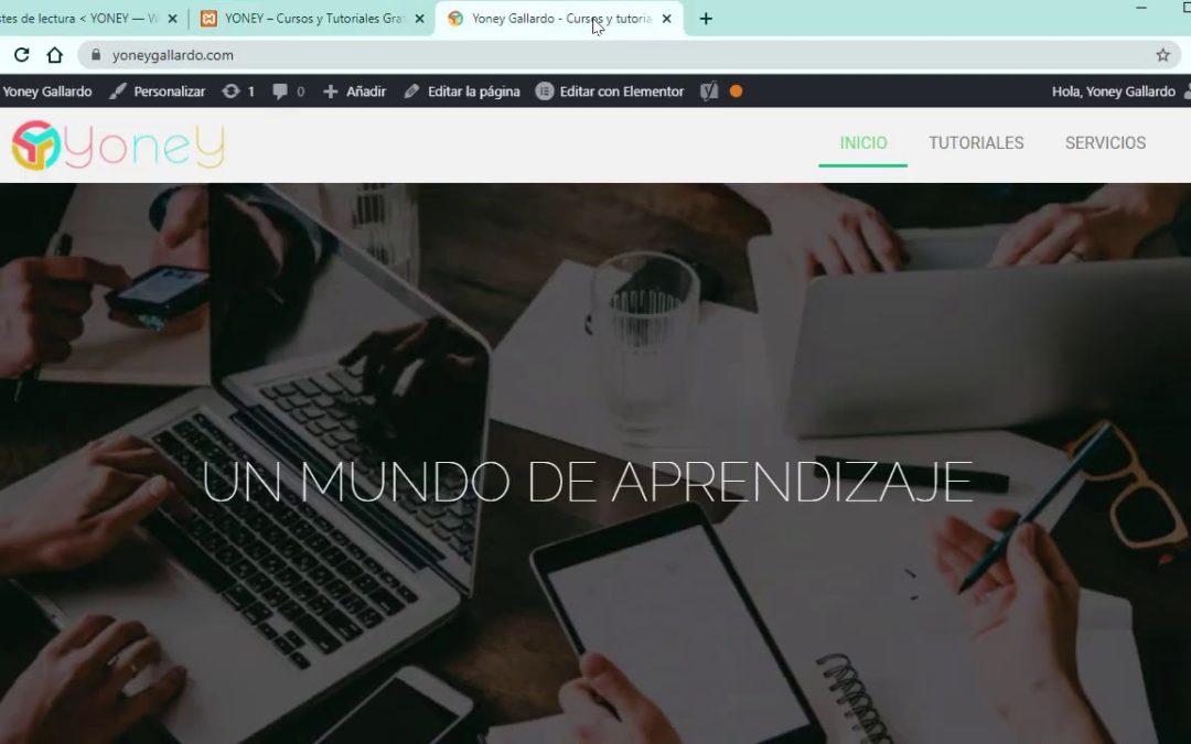 CÓMO CREAR UN SITIO WEB CON WORDPRESS 2021