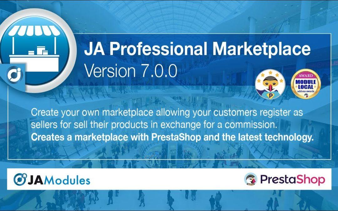 JA Marketplace versión 7 en PrestaShop 1.7.7 (English)
